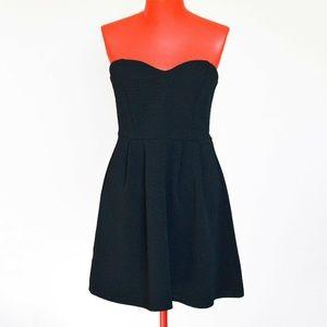 Forever 21 Strapless Sweetheart Dress Black Sz M